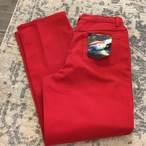 Jeans Size 14 Red By Jeanology NWT